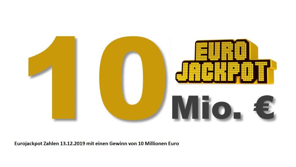 Eurojackpot am 13.12.2019