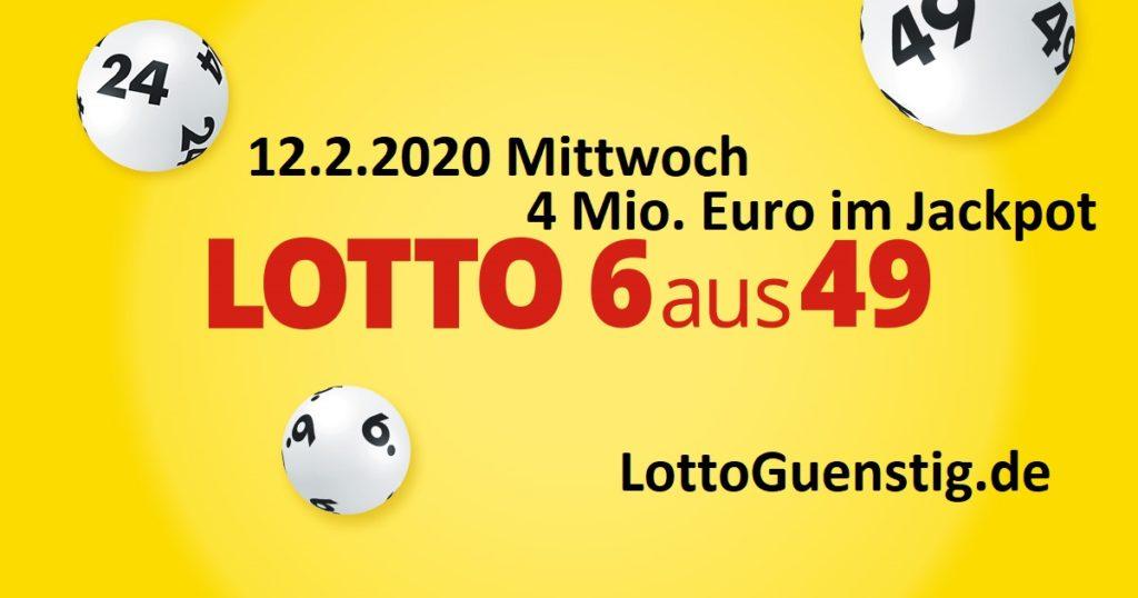 Lottozahlen vom 12.2.2020