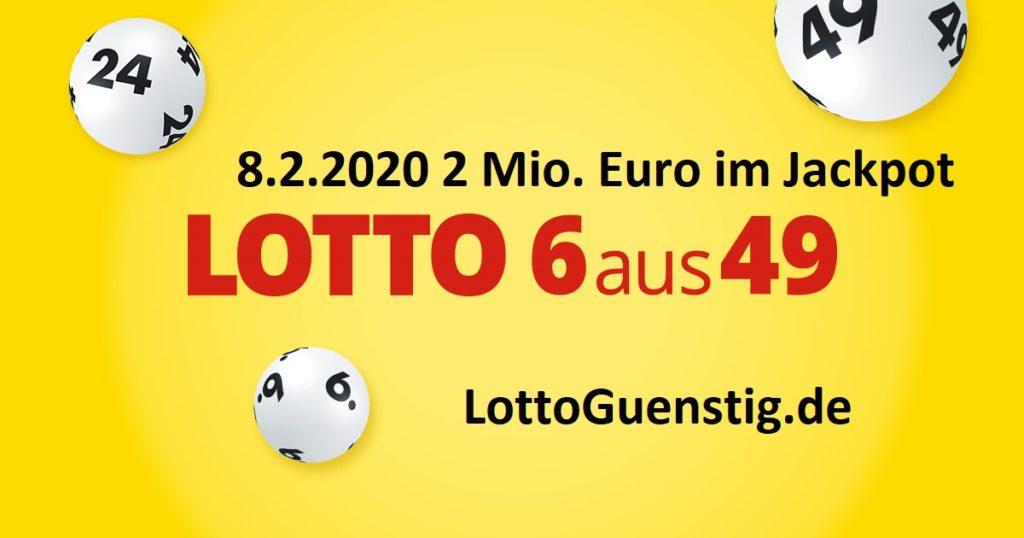 Lottozahlen vom 8.2.2020