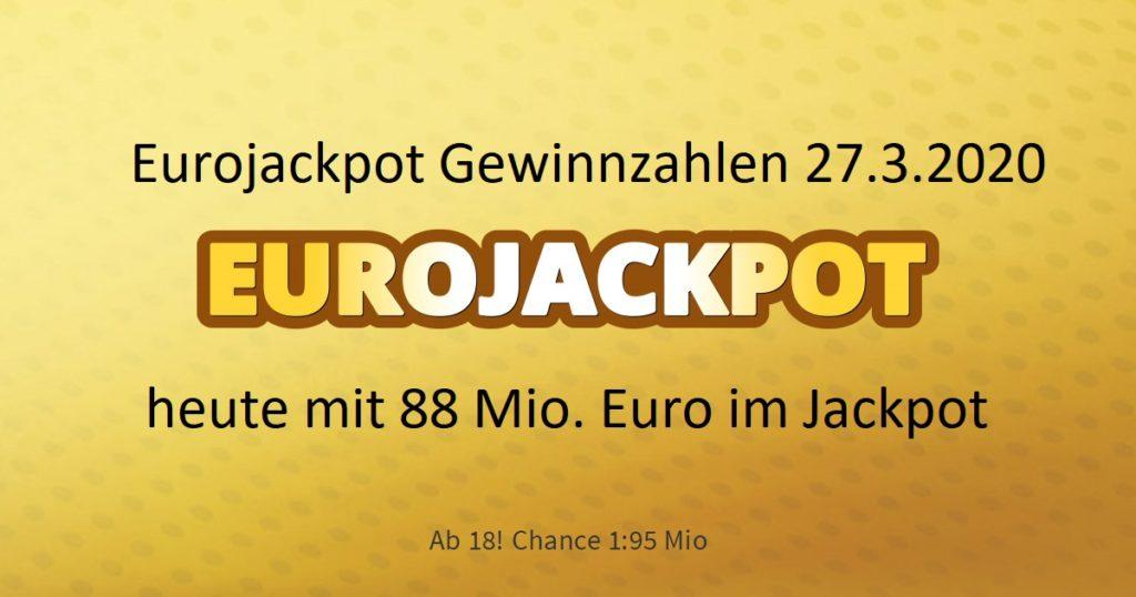 Eurojackpot 27.3 20